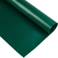 3m groen mat 550gr pvc zeil per meter van rol