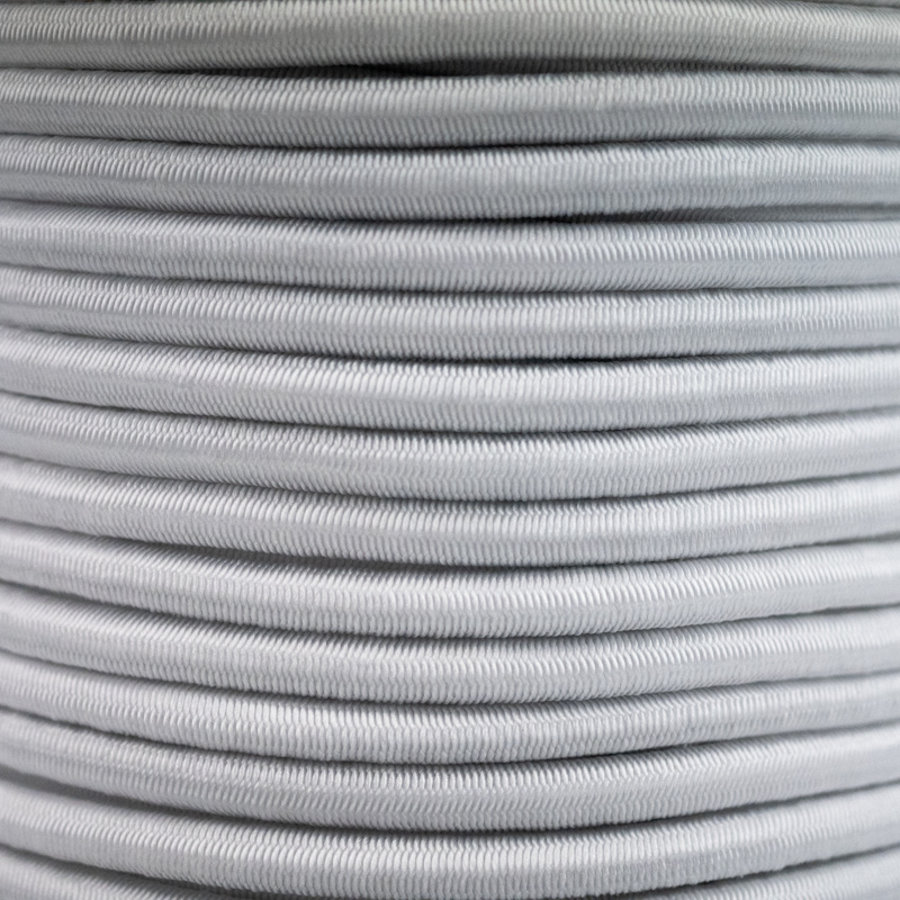 Elastisch koord 10mm wit op rol