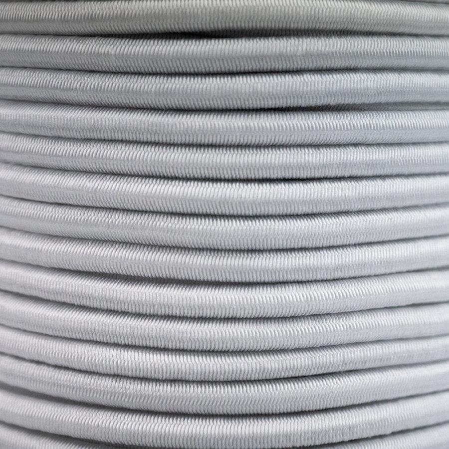 Elastisch koord 6mm wit op rol