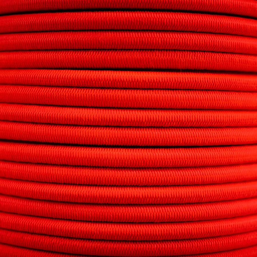 Elastisch koord 8mm rood op rol