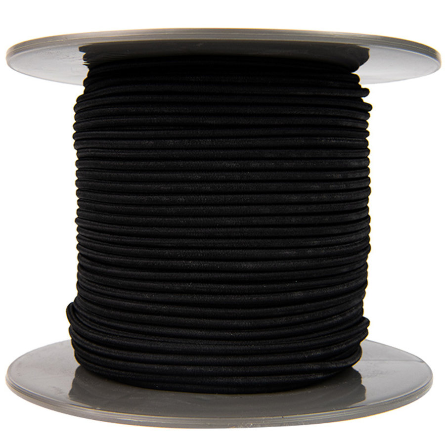 Elastisch koord 4mm zwart op rol