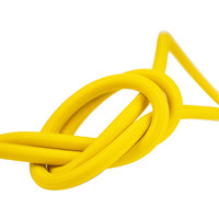 Elastisch koord 6mm geel op rol