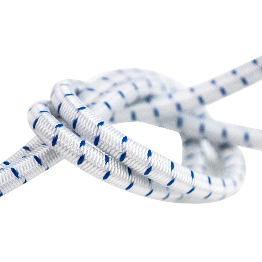 Elastisch koord 10mm blauw-wit gestreept op rol