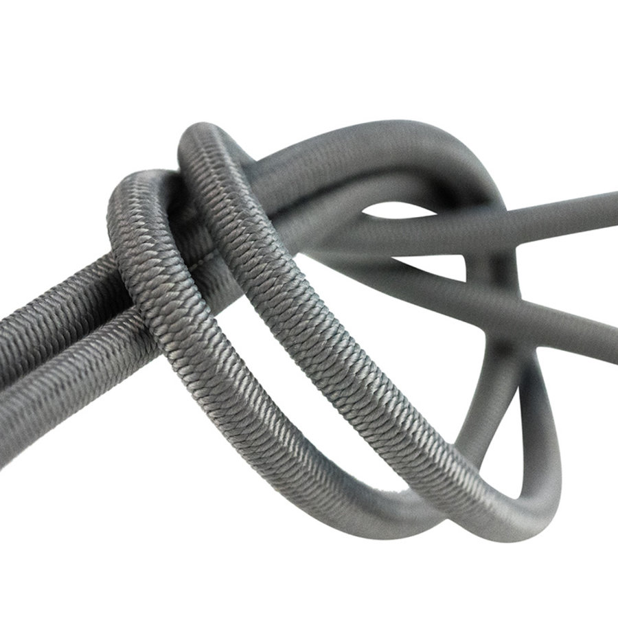 Elastisch koord 8mm grijs op rol