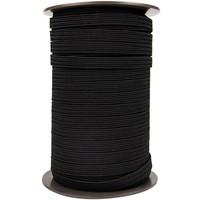 Elastisch koord 16mm plat zwart op rol