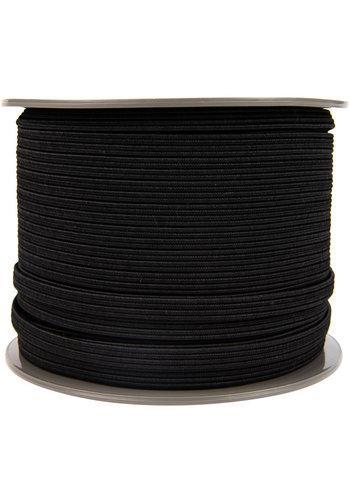 Elastisch koord plat 11mm zwart