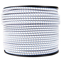 Elastisch koord 6mm blauw-wit gestreept op rol