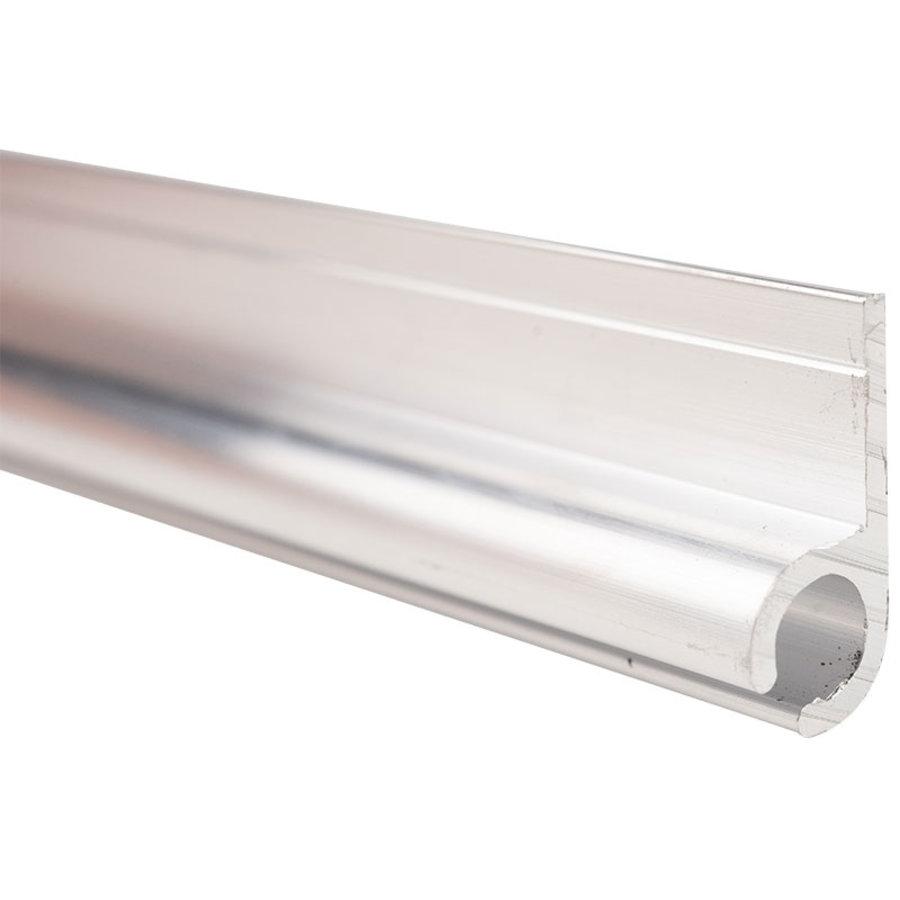 Caravanrail 7mm 99cm aluminum Railprofiel Schuin 45 graden Kederprofiel voor caravanpees