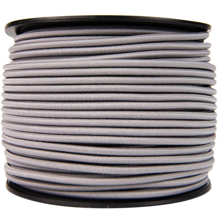 Elastisch koord 6mm grijs op rol