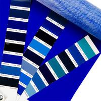 2,04m blauw 320gr pvc zeil per meter van de rol zomerkleed bootzeil
