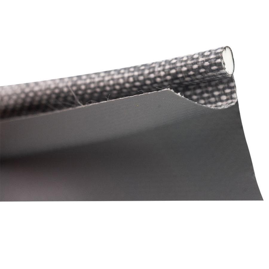 Caravanpees dubbele vlag 30mm 7mm PVC pees grijs per meter