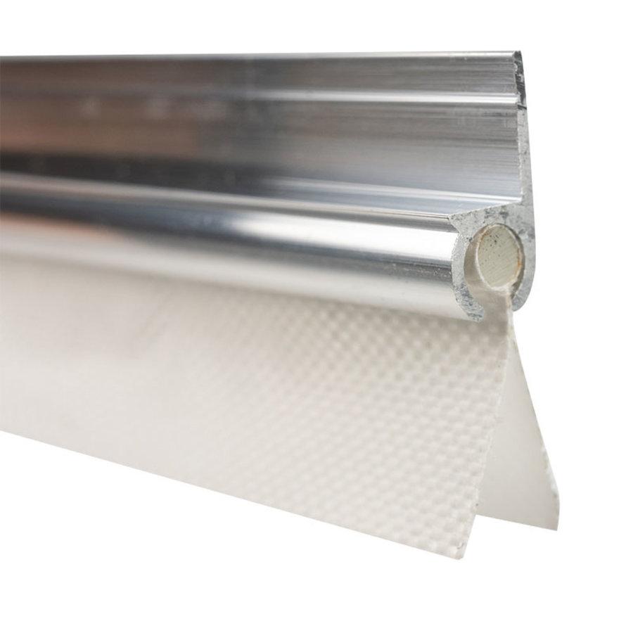 Caravanpees dubbele vlag 30mm 7mm PVC pees wit per meter
