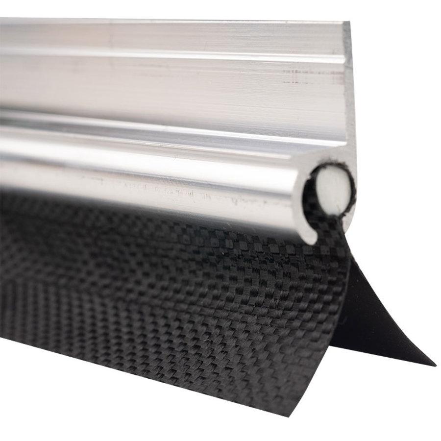 Caravanpees dubbele vlag 30mm 7mm PVC pees zwart per meter