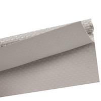 Caravanpees dubbele vlag 30mm 7mm PVC pees lichtgrijs per meter