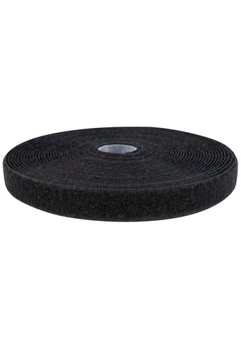 Klittenband 20mm naaibaar lus zwart