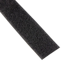 Klittenband 20mm zelfklevend acryl lus zachte kant zwart