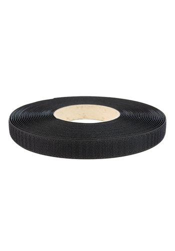 Klittenband 20mm zelfklevend acryl haak zwart