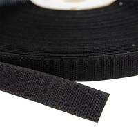 Klittenband 20mm zelfklevend acryl haak harde kant zwart