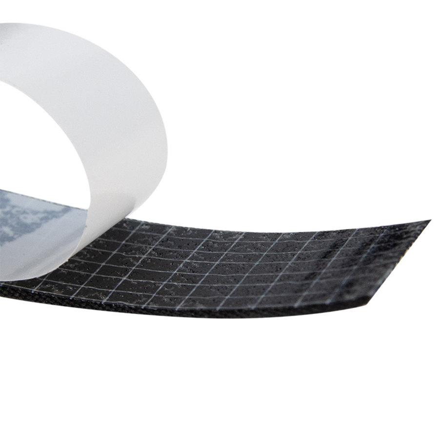 Klittenband 20mm zelfklevend acryl lus per meter zwart