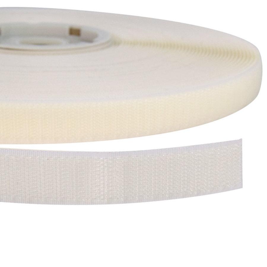 Klittenband 20mm zelfklevend acryl haak harde kant wit