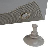 4x zuignap grijs voor een combinatie met zeilringen
