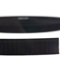Klittenband 20mm zelfklevend hotmelt haak harde kant zwart