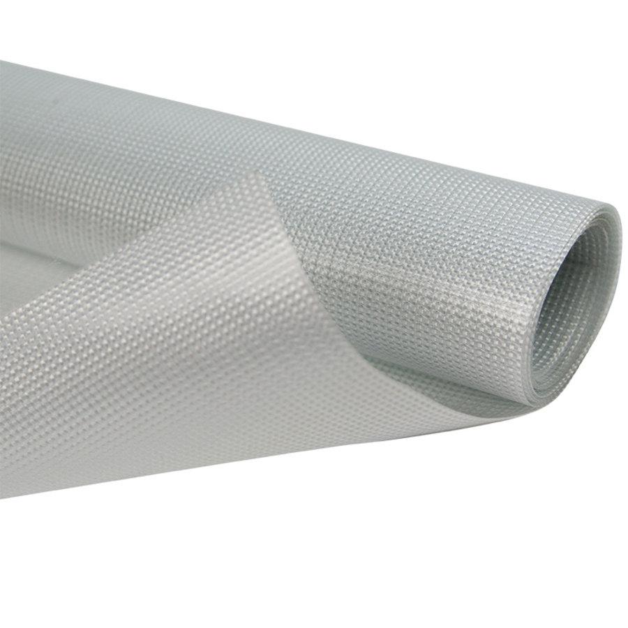 2,5m wit 680gr doorzichtig pvc waterdicht zeildoek