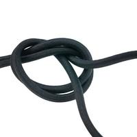 Elastisch koord 6mm zwart trapezekoord per meter en rol