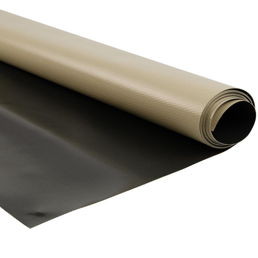 2,5m creme donkergrijs 580gr pvc zeildoek