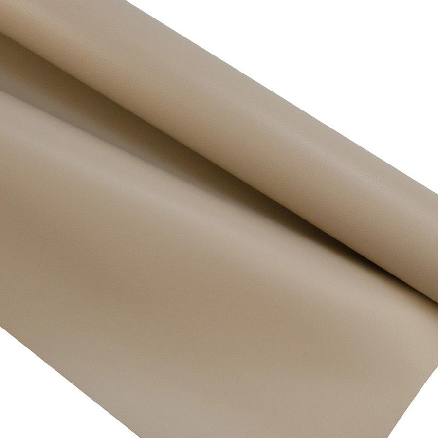 2,5m taupe mat 680gr pvc zeil per meter