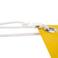Spanner kunststof haak 235cm elastiek wit