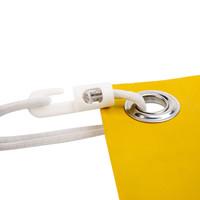 Spanner kunststof haak 20cm elastiek wit