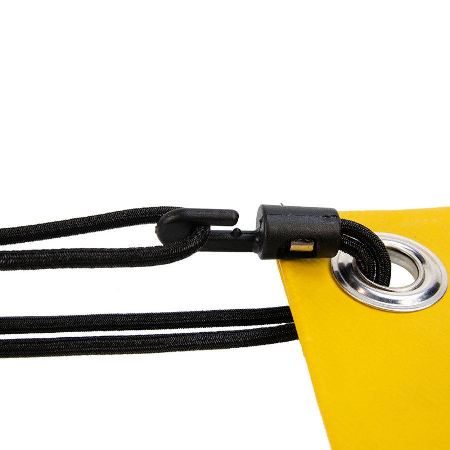 Spanner kunststof haak 20cm elastiek zwart