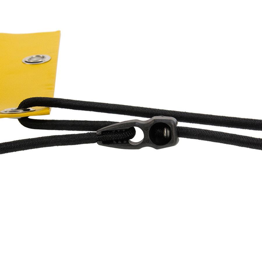 Crocofix snelbinder 100cm zwart verstelbaar elastiek