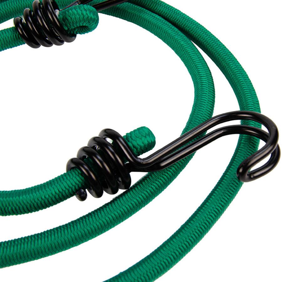 Snelbinder 120cm omgekeerde dubbele haak groen