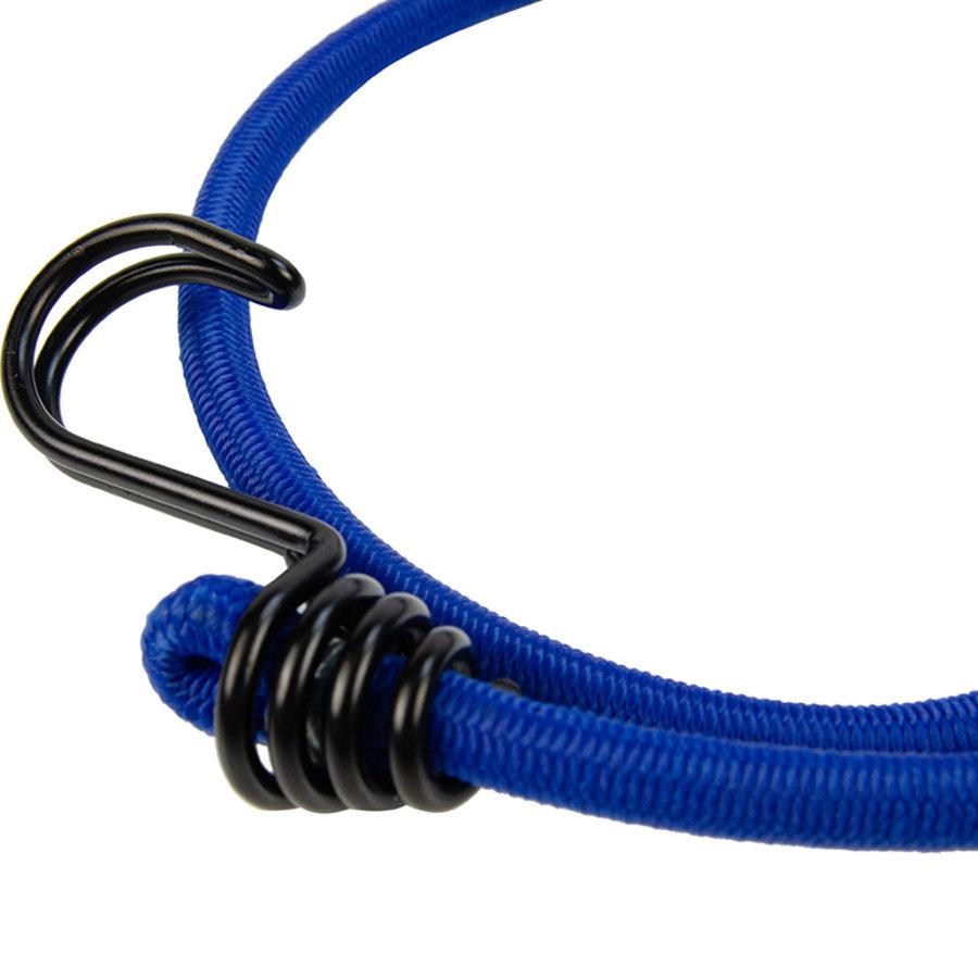 Snelbinder 80cm omgekeerde dubbele haak blauw