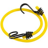 Snelbinder 60cm omgekeerde dubbele haak geel
