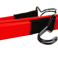 Platte spanband 150cm rood PP dubbele haak