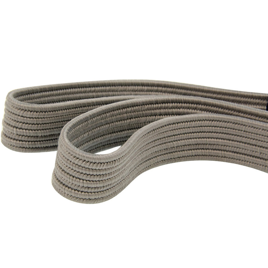 Platte spanband 100cm grijs PP dubbele haak