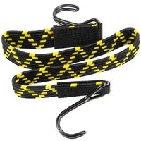 Platte spanband 60cm zwart geel pp dubbele haak