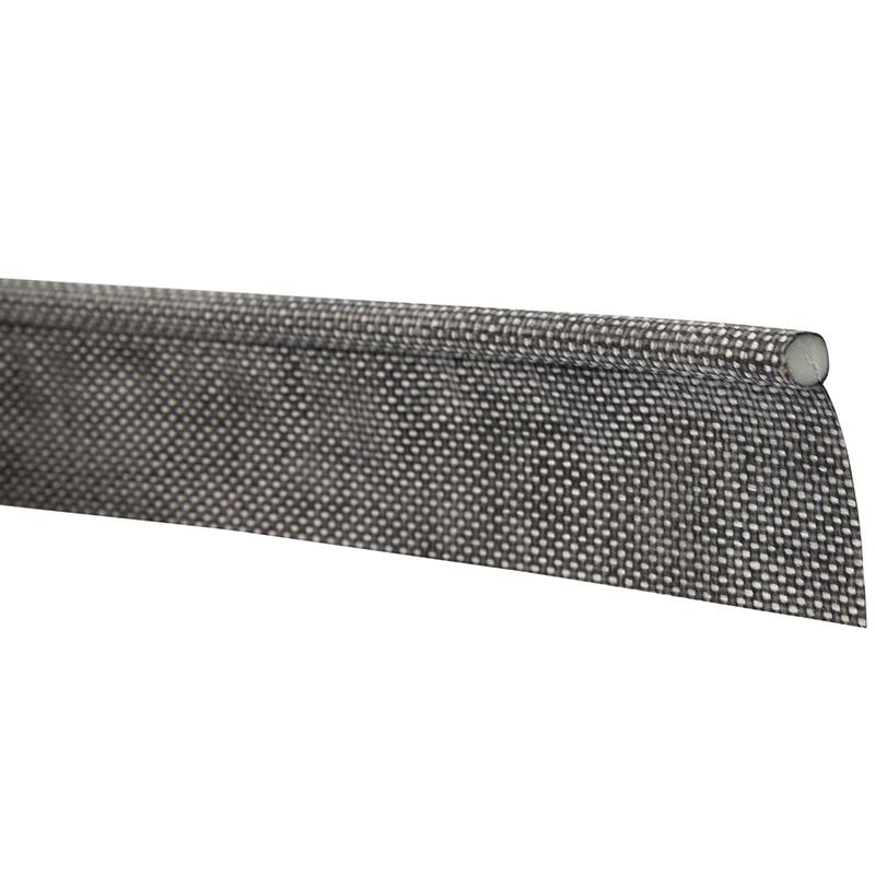 Caravanpees 7mm grijs enkele vlag kederband