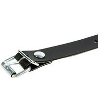 Pvc riem 25cm met gesp 2cm zwart