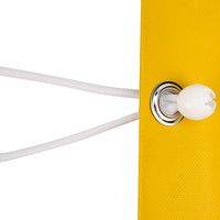 Spanner met bal 18cm elastiek wit