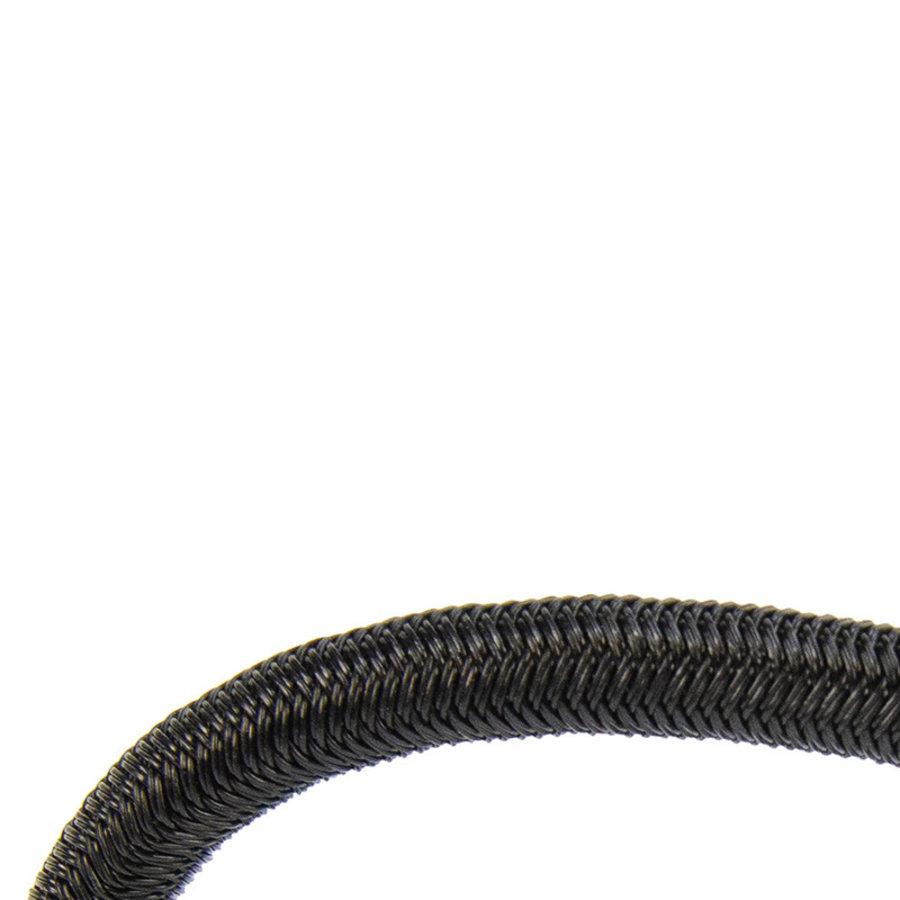 Spanner met rvs haak 13cm elastiek zwart spinhaak