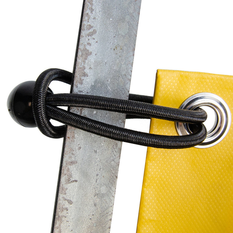 Spanner met bal 25cm elastiek zwart