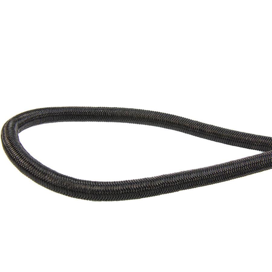 Spanner met rvs haak 20cm elastiek zwart spinhaak