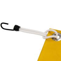 Spanner met rvs haak 45cm elastiek wit