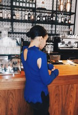 Rachel Moore Sexy blue jumper