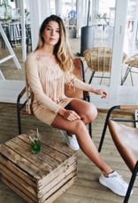 Rachel Moore Fringe Suede Dress