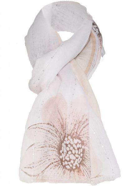 Sjaal Madelief zalm/beige